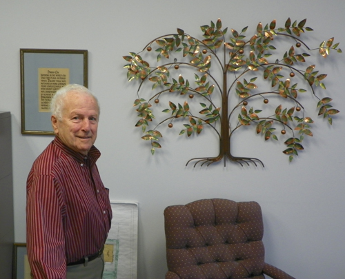 Nacy Panzica in his office