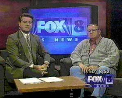 Bill Martin and Neil Zurcher on TV set