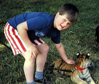 Craig Zurcher with tiger