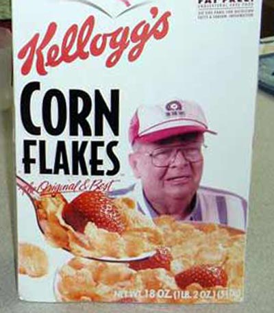 Neil Zurcher on Corn Flakes box