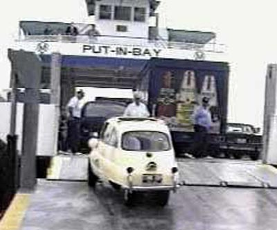 Neil Zurcher and BMW Isetta on the ferry