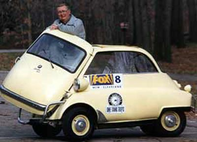Neil Zurcher with BMW Isetta