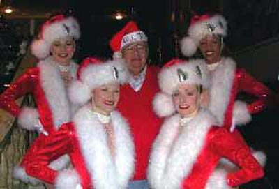 Neil Zurcher with Rockettes