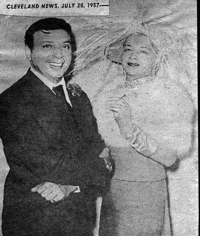 Paige Palmer with Mr John in 1957 Cleveland news article