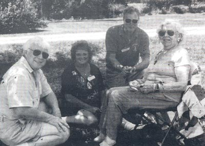 Bill Snyder, Marilyn and Dick Roddie and Paige Palmer at a 1999 Classic Car Club Outing