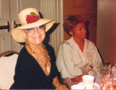 Paige Palmer with Jewell Cardwell in 1984