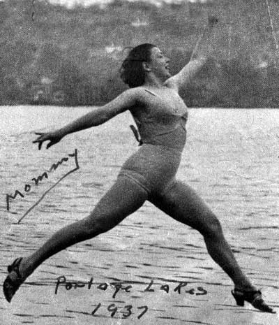 Paige Palmer at Portage Lakes in 1937