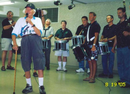 Jack Petrusiak in Pipe Band