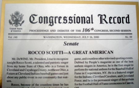Rocco Scotti in the Congressional Record