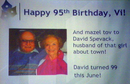 David and Violet Spevack birthday sign