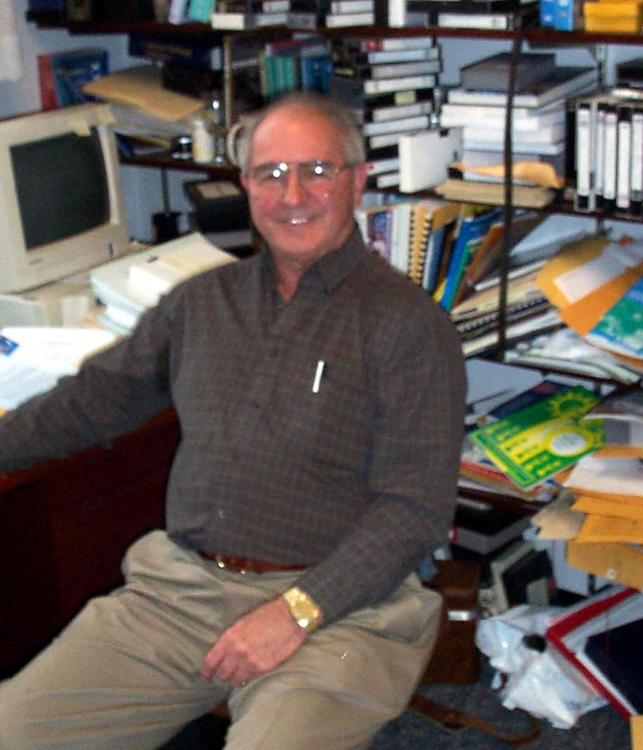 Dr Stephenson in his office