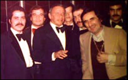 Jim Swingos with Frank Sinatra and Nick Mileti