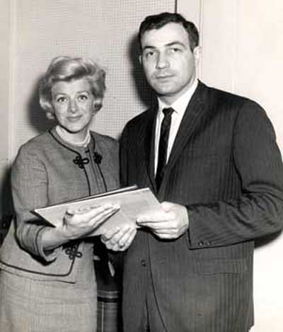 Rosemary Clooney with Ted Hallaman at WGAR in 1961