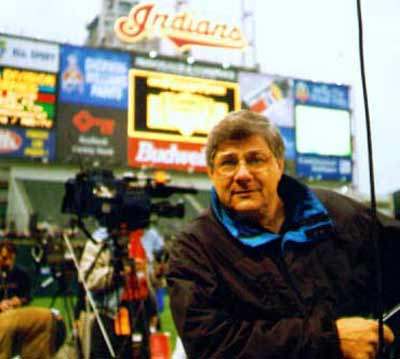 Ralph Tarsitano at Jacob's Field covering a Cleveland Indians Game