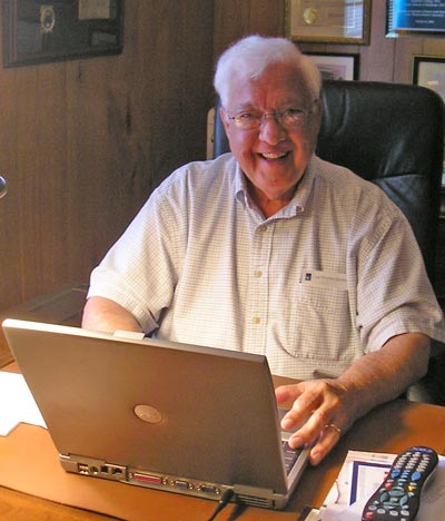 Dr. Ted Castele in  his home office in 2008