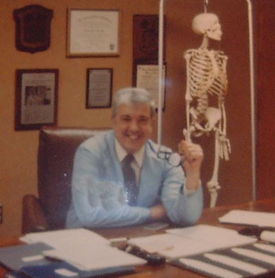 Dr. Ted Castele in CWRU office