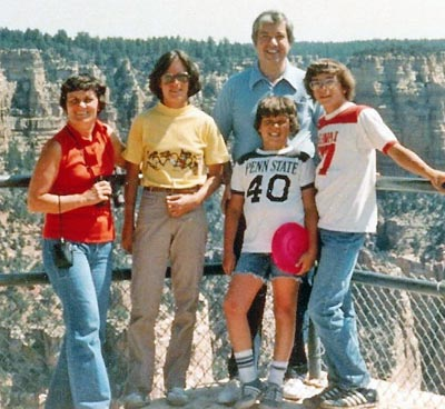 Dr. Ted Castele and family at Grand Canyon