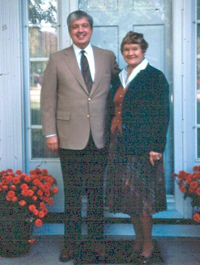 Dr. Ted Castele and his mother