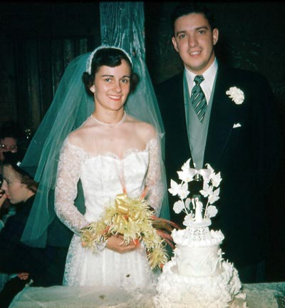 Ted Castele and Jean Willse wedding in 1951