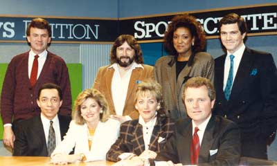 Cleveland TV Anchors Ted Henry, Leon Bibb, Romona Robinson, Tim Taylor, Robin Swoboda and others