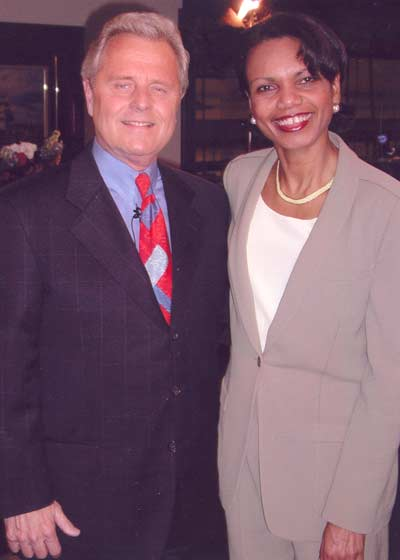 Tim Taylor and Condoleeza Rice