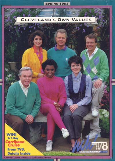 1993 TV 8 Team - Denise Dufala, Tim Taylor, Casey Coleman, Dick Goddard, Eleanor Hayes, Laurie Jennings at Rockefeller Greenhouse