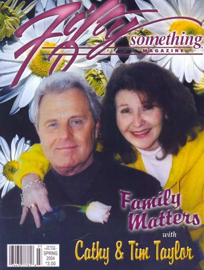 Tim and Cathy Taylor on the cover of Fifty Something Magazine
