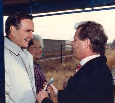 George and Barbara Bush with Tim Taylor on 10-31-1992