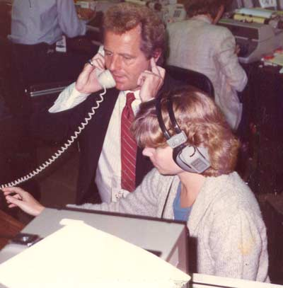 Tim Taylor with with Producer Lynn Zale at the 1984 GOP Convention