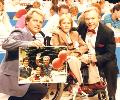 Tim Taylor, Dick Goddard and Matt Pool - MD Poster Child 1985