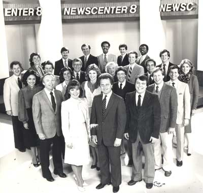 Newscenter 8 News Team including Tim Taylor, Tana Carli, Dick Goddard, Casey Coleman, Dale Solly, John Telich, Dick Russ, Wayne Dawson, Bob Cerminara, Dave Buckel, Denise D'Ascenzo and others
