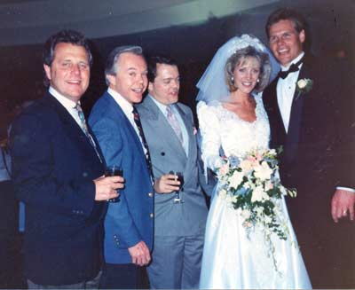 Tim Taylor, Dick Goddard and Casey Coleman at Robin Swoboda's wedding in San Diego