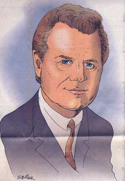 Scott Butler of the News Herald drawing of Tim Taylor -9-24-2000