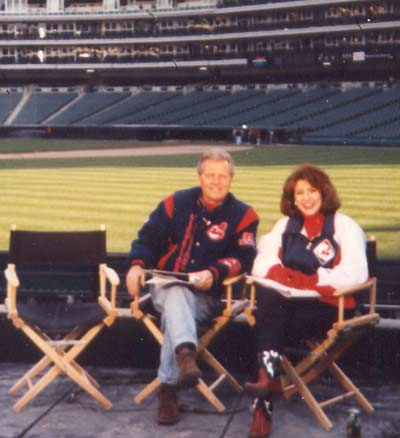 Tim Taylor and Denise Dufala say goodbye to Cleveland Municipal Stadium