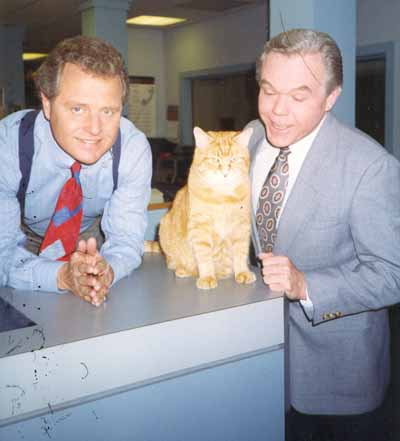 Tim Taylor, Dick Goddard and the famous Morris the Cat