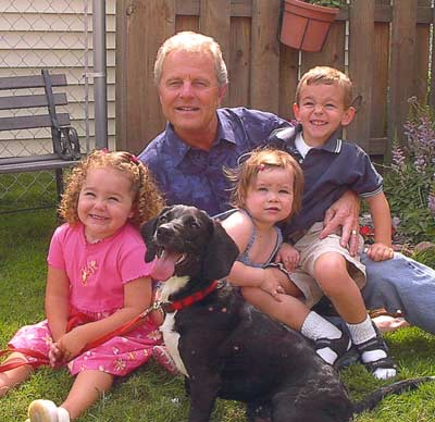Tim Taylor and his grandkids