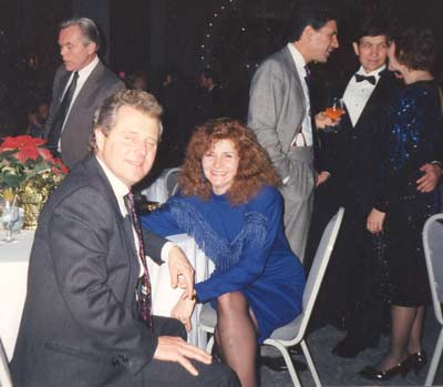 Tim and Cathy Taylor (Dick Goddard, Dennis Kucinich and others in the background)