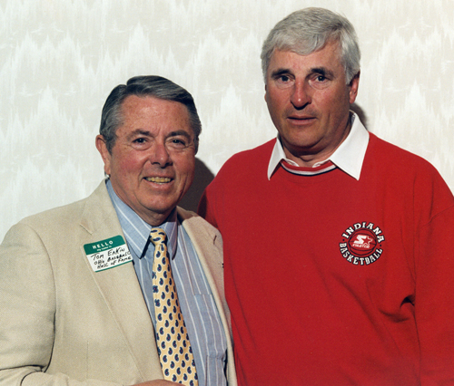Tom Eakin with Bobby Knight in 1996