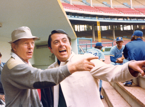 Danny Kaye and Tom Eakin at Cleveland Municipal Stadium