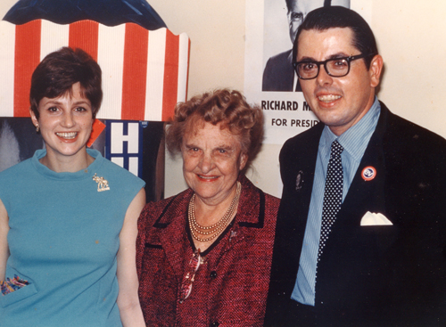 Tom Eakin with Frances P. Bolton, the first woman elected to Congress from Ohio