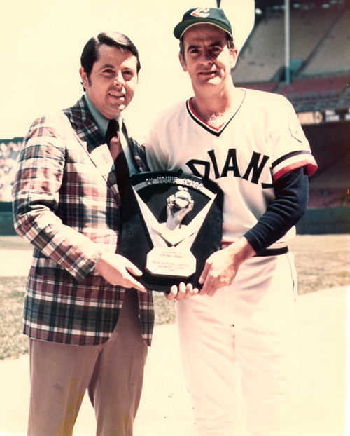 Tom Eakin with Cy Young winner Gaylord Perry in 1972