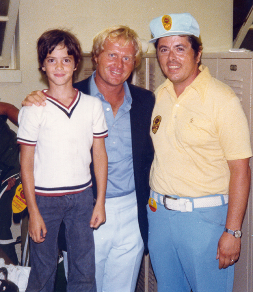 Tommy and Tom Eakin with Jack Nicklaus when Jack won the 1973 PGA at Canterbury