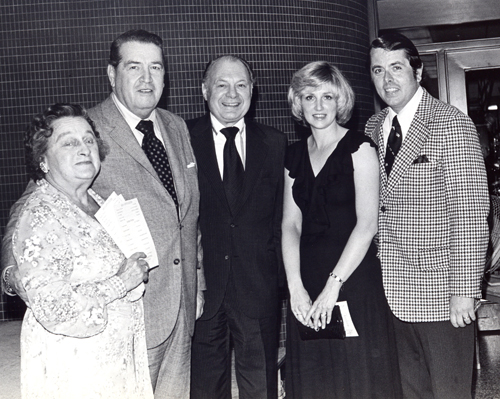 Tom and Brenda Eakin with Dorothy Marshall, Shannon Rodgers, Jerry Silverman - April 21, 1976
