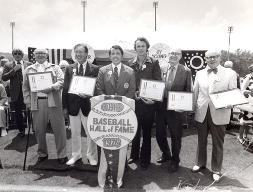 Tom Eakin at the first induction ceremony of the Ohio Baseball Hall of Fame in Newcomerstown, Ohio on July 5,1976