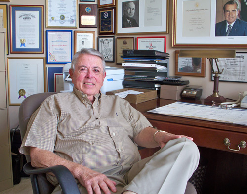 Tom Eakin in his office 2010