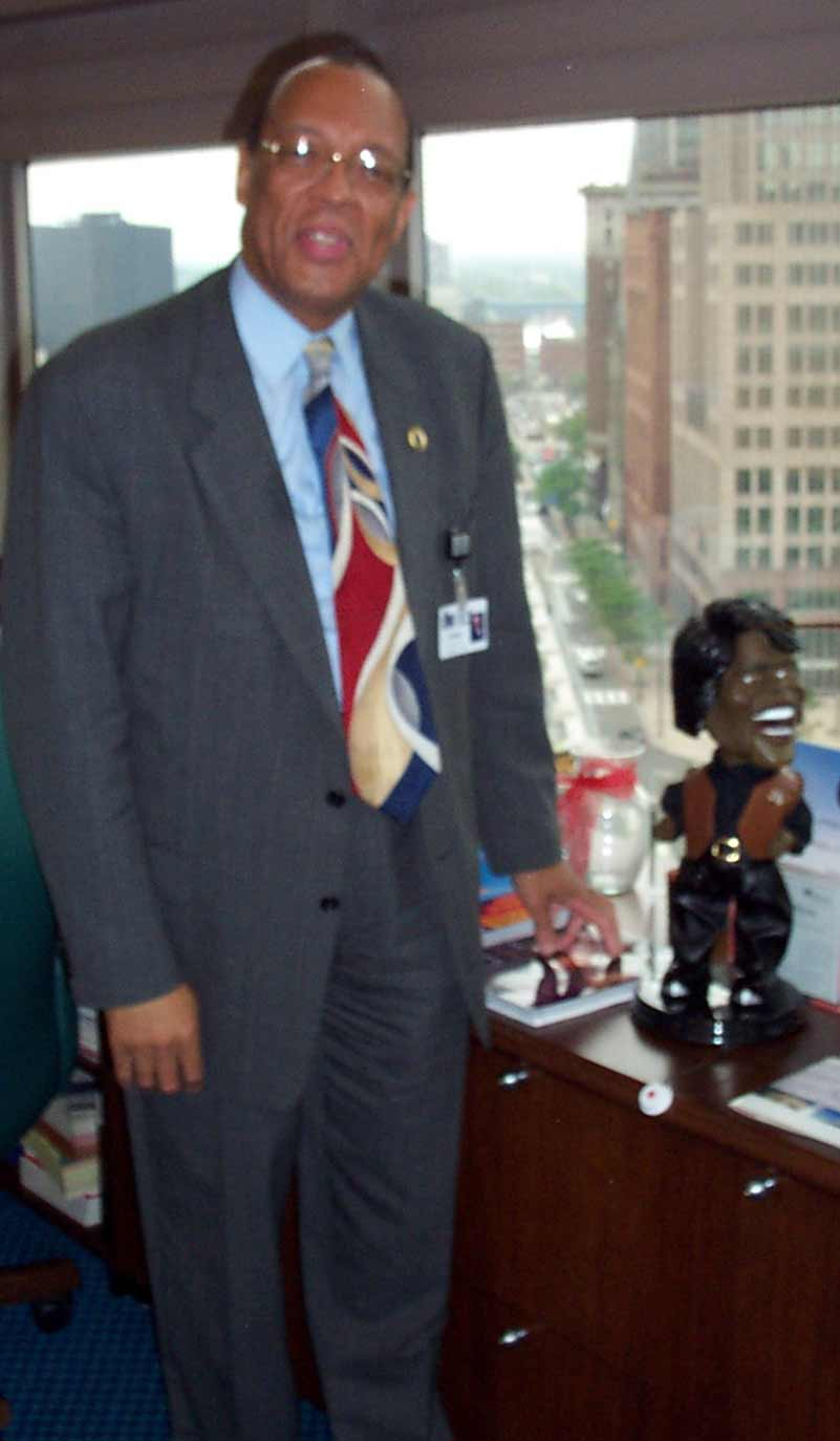 Andrew and James Brown doll