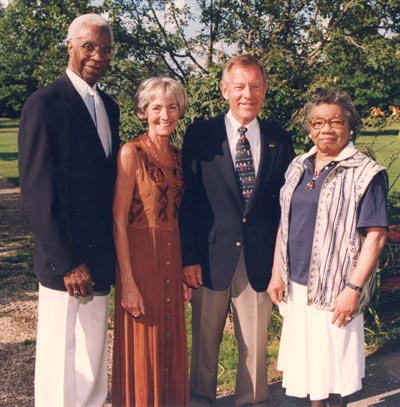 Virgil and Lurtissia Brown with Janet and George Voinovich