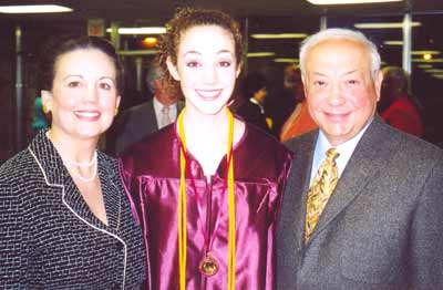Virgil Dominic with wife Shaun and granddaughter Denise at Ohio State graduation in June 2007